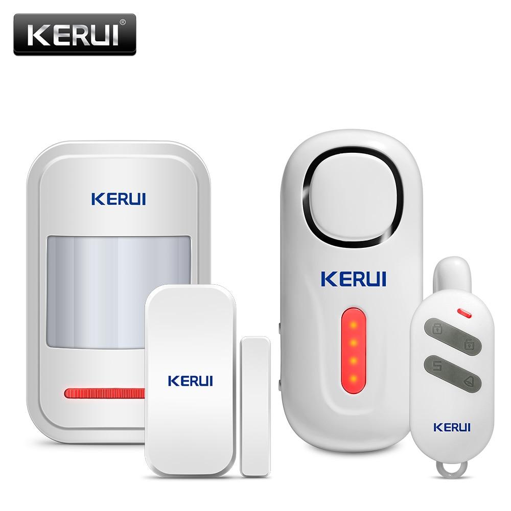 KERUI, беспроводной дверной/оконный вход, охранный датчик, сигнализация, пир, дверь, Магнитная сигнализация, система безопасности с пультом ди...