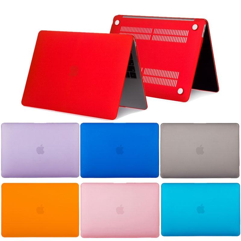 Однотонный чехол для MacBook Pro Retina 12 13 15, чехол для ноутбука A1398 A1502, матовый чехол из ПВХ для MacBook Air Pro Retina 11 12 13 15, чехол чехол