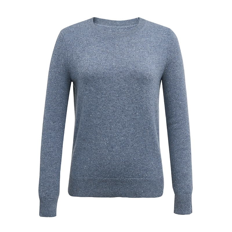 Tailor Shop Custom Made All Cashmere Pure Cashmere Sweater Women Round Neck Knitted Sweater Bottoming Shirt enlarge