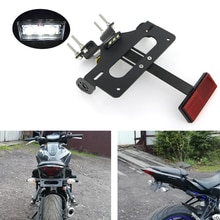 Подходит для Yamaha MT 07 FZ 07 MT07 2014 2020 Номерного Знака Держатель Кронштейн задние аккуратные предохранительный нейтрализатор комплект