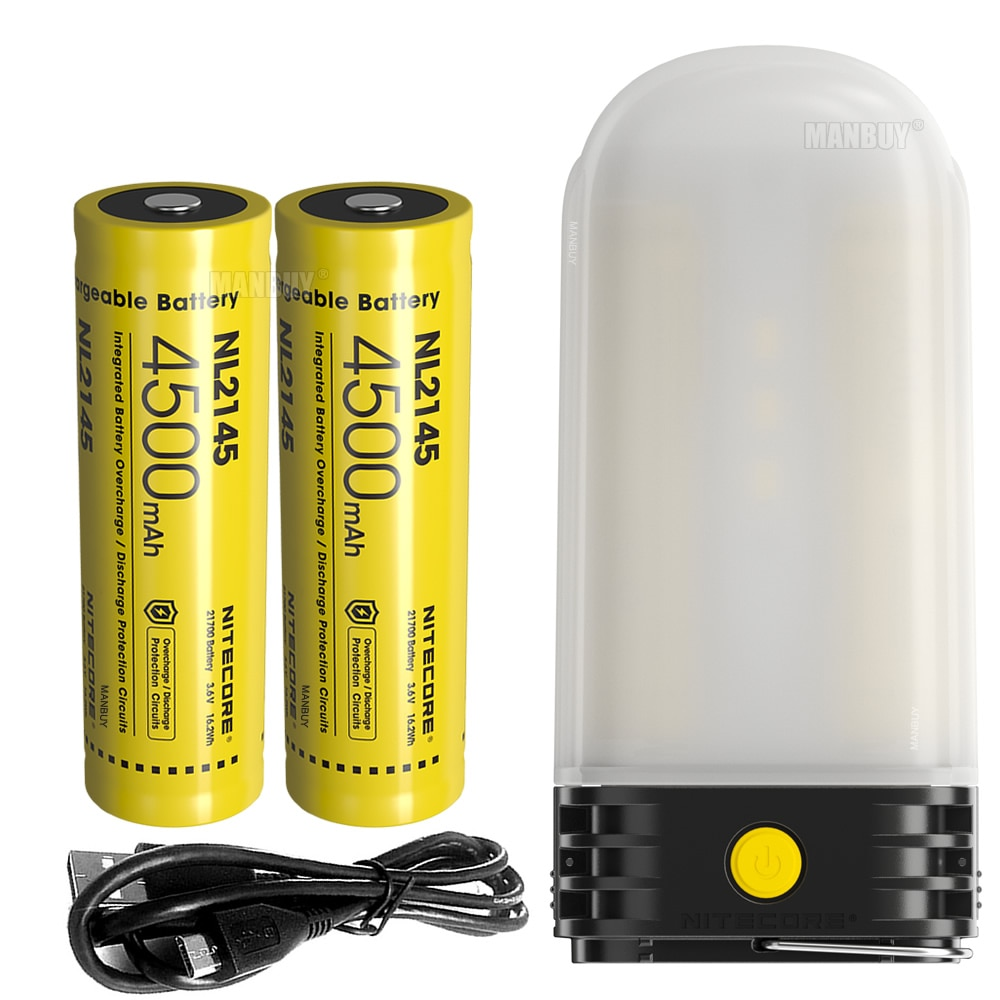 nitecore lr60 lanterna recarregavel de acampamento e power bank 9x led cri 250lm