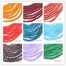 72 pièces à facettes forme ronde 8mm corail rose perles de cristal pour la fabrication de bijoux collier et Bracelet en gros Lots en vrac