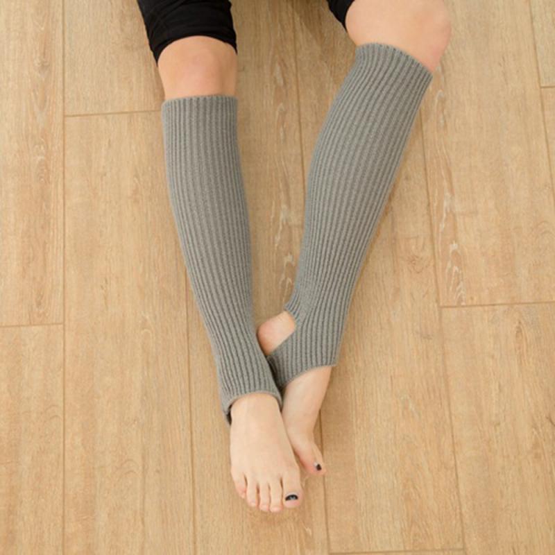 Calentadores de piernas para mujer, calcetines largos para baile medias sin pies, calentadores de piernas calientes para invierno, calcetines para gimnasio, Fitness, baile, piernas, protector para pies