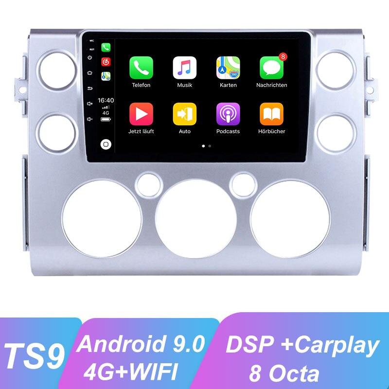 OKNAVI Android 9,0 auto Radio Multimedia reproductor de vídeo para Toyota FJ CRUISER 2007-2018 GPS de navegación 2 Din WiFI 4G Red BT SIN DVD