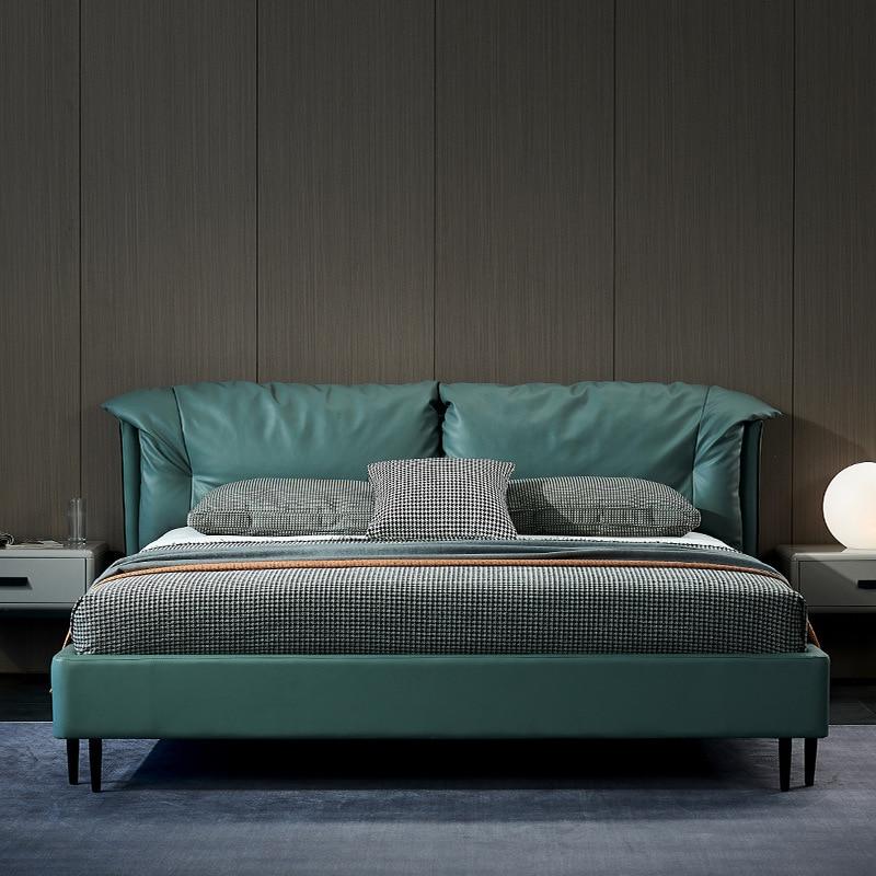 Cama de cuero Ins para Cuero Simple, moderna, para boda, dormitorio, cama...