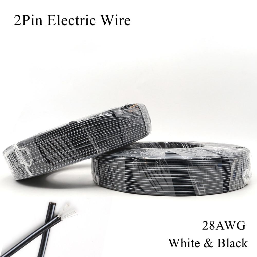 Cable eléctrico 28AWG de 2 pines, Cable de cobre estañado blanco y...