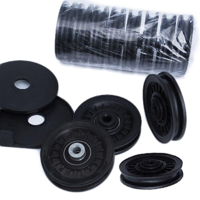 1 шт., роликовый подшипник для фитнеса, 90 мм, износостойкий нейлоновый подшипник, роликовый шкив, роликовый кабель для тренажерного зала, Универсальное оборудование для похудения и фитнеса