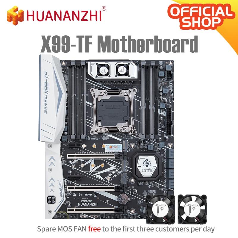 HUANANZHI X99 TF X99 اللوحة إنتل سيون E5 LGA2011-3 جميع سلسلة كلا DDR3 DDR4 RECC NON-ECC الذاكرة NVME USB3.0