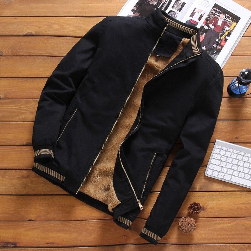 Осенние мужские куртки, повседневная мужская верхняя одежда, флисовая Толстая теплая ветровка, военные бейсбольные куртки, одежда