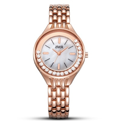 Luxury Brand Woman Watches Rose Gold Top Watch Women Quartz Waterproof Womens Wristwatch Ladies Girls