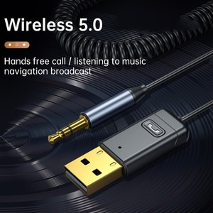 Wireless 5.0 Bluetooth Audio Receiver 3.5mm AUX Transmitter Music Player for PC TV Car Speakers USB Bluetooth Adapter