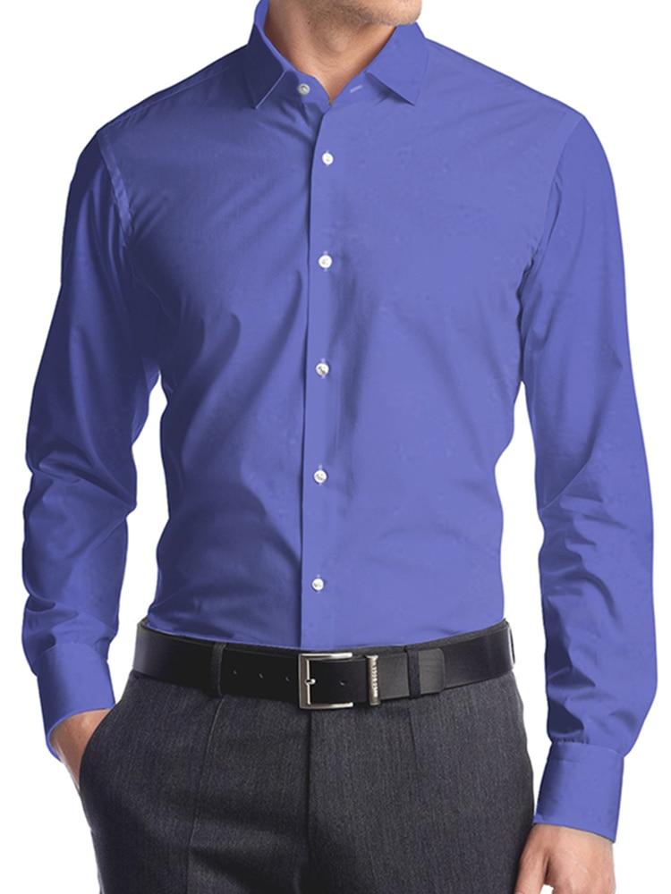 Классическая синяя мужская рубашка на заказ, классические строгие рубашки на заказ, мужские строгие рубашки с длинным рукавом