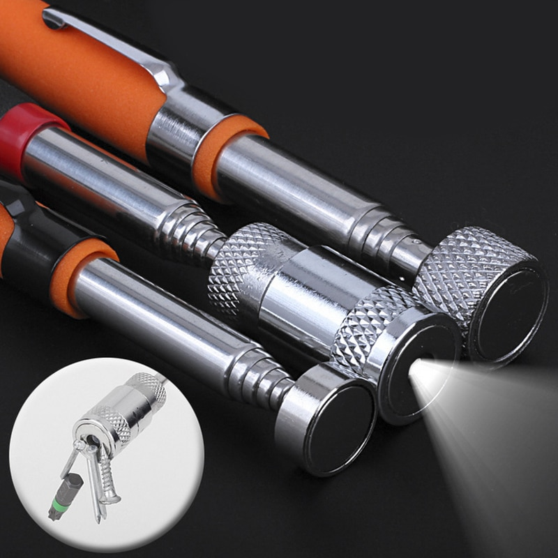 Telescopic Adjustable Magnetic Pick-Up Tools Grip Strong magnetism Extendable Long Reach Pen Handy Tool for Picking Up Nuts недорого