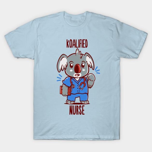 Camiseta para hombre, camiseta koalificada con estampado de animales de enfermera Koala de techranova, camiseta para mujer