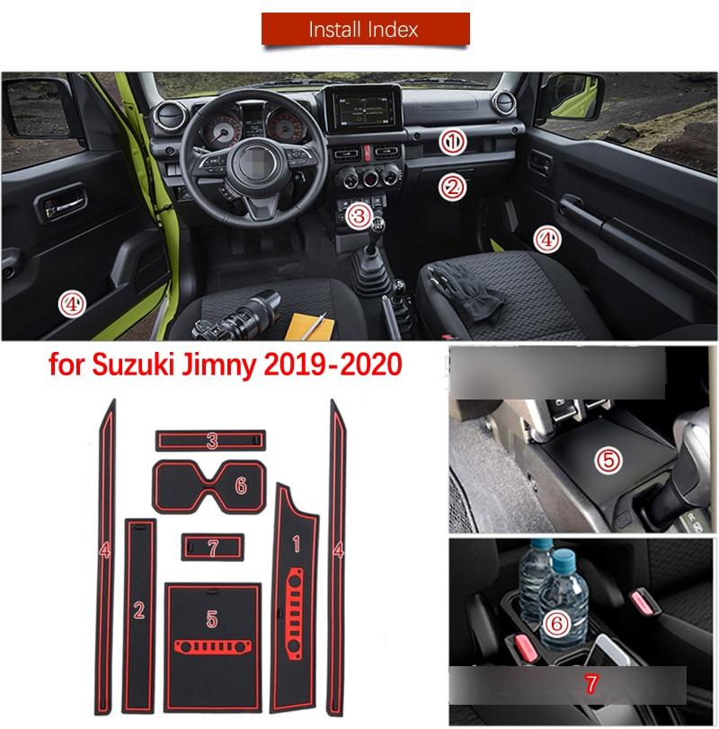Дверной коврик для Suzuki Jimny, 2019, 2020, JB64, JB74, Jimny Sierra, аксессуары, Противоскользящий коврик, слот для ворот, подставка для автомобильных интерьеро...