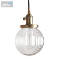 permo modern 5 9 clear globe glass pendant ceiling lamps pendant lights e27 hanglamp luminaire living room loft lights fixture
