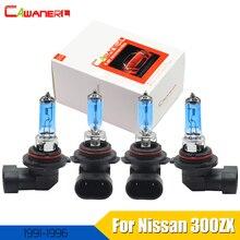 Cawanerl-lampe halogène 100W 9005 + 9006   4 pièces, phare de voiture, faisceau haut-bas 12V pour Nissan 300ZX 3.0L 1991-1996