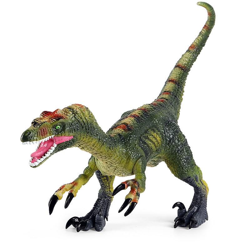 Jurassic Tyrannosaurus Velociraptor Movable Doll Dinosaur World Animal Model Soft Rubber Children's Collection Toy Gift
