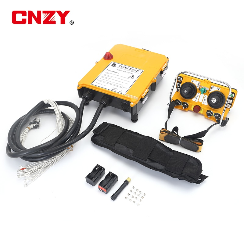 Brand new original F24-60 rod type industrial wireless remote control electric hoist remote control 1 transmitter + 1 receiver high quality f24 60 industrial joystick remote control crane wireless remote control