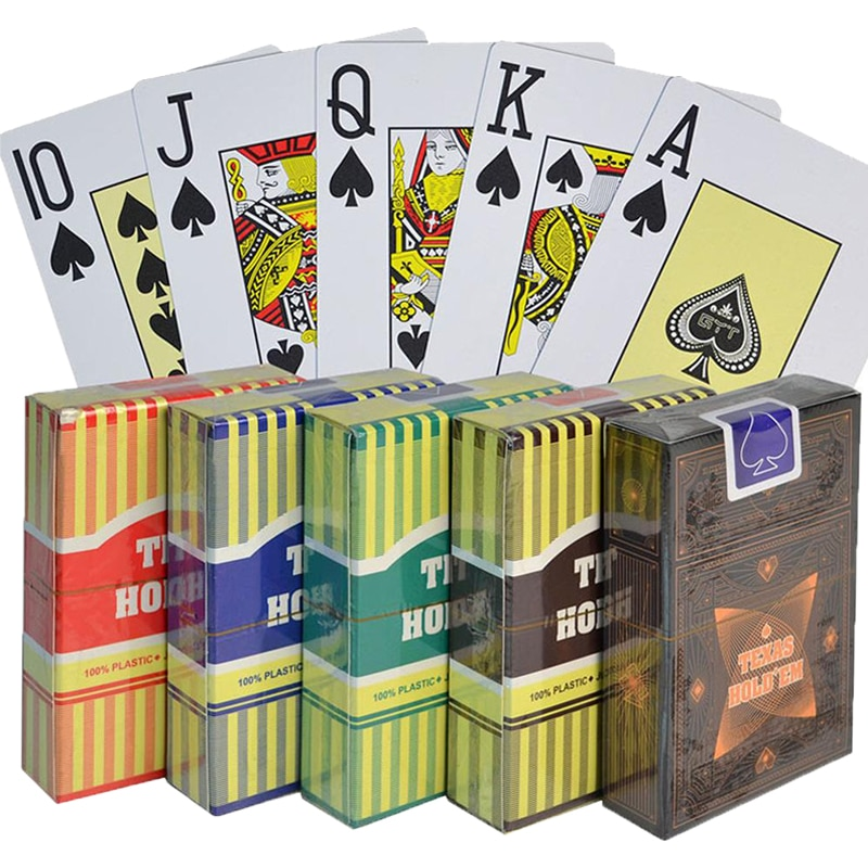 Texas Hold'em 100% PVC Poker Cards Waterproof  Playing Cards Black Jack Plastic Game Card Poker Board Game Card  2.48*3.46 inch rye morrison counting cards in texas hold em poker