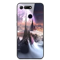 glass case for honor v20 phone case phone cover phone cell back bumper star sky pattern