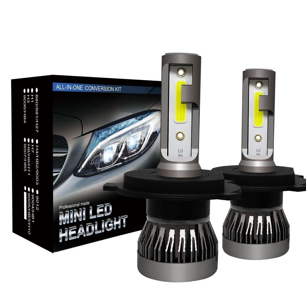 Kit de lampes phares pour Mini voiture H7 9005   2 pièces H7 9006 12000LM/paire de mini-phares H1 H7 H8 H9 H11, HB3 HB4