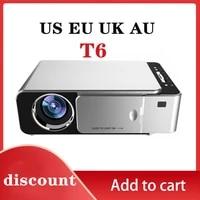 T6 Pleine 1080P Projecteur 3500 lumens Home Cinema Film Beamer HD LED Projecteur Video Cinema Portable