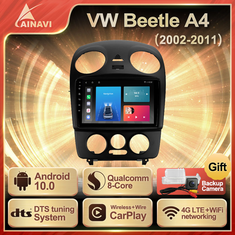 Car Radio Android 10 QLED Screen For Volkswagen VW Beetle A4 2002-2011 Auto Stereo Multimedia Player Navigation Carplay No 2din