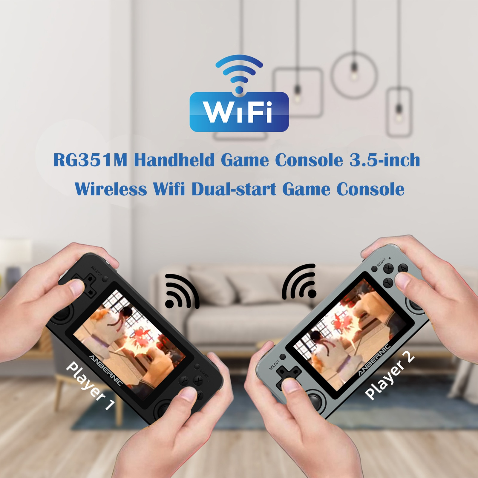 RG351M 64/128GB Handheld Wifi Game Console 3.5 inch IPS Retro Pocket Game Player Wireless Wifi Open Source System 3.5mm Aux