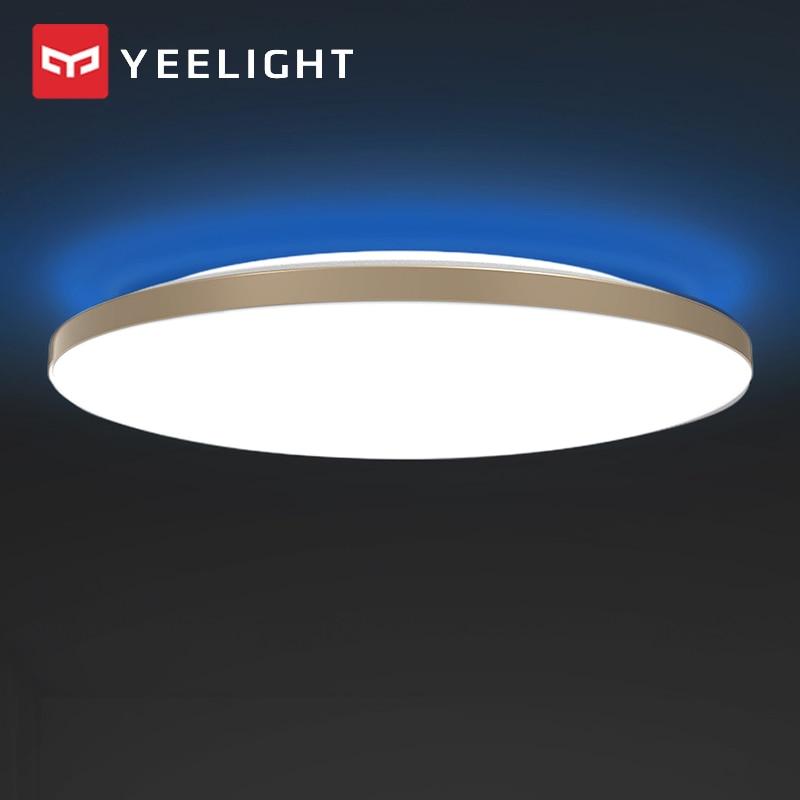 Luces de techo LED inteligentes YEELIGHT de 50W, luz ambiental colorida, kit doméstico, Control inteligente de aplicaciones, CA 220V para sala de estar
