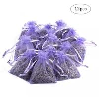 12pcs lavender scented sachets bag dried flower sachet flower buds bags aromatherapy car room air refreshing sachet