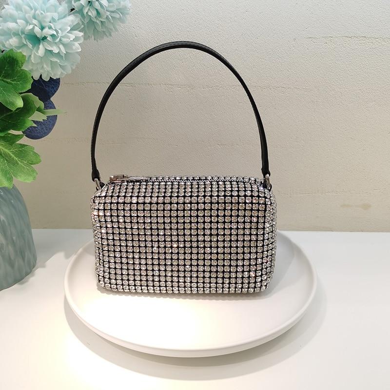 сумка fiorelli fiorelli mp002xw0eqen Новейшая сумка известного бренда Стразы, сумка для ужина, дизайнерская сумка, полностью Алмазная Подмышечная сумка, женская сумка, сумка дл...