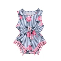 baby girl floral romper floral sleeveless cotton jumpsuit summer clothes newborn toddler infant outfits