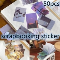 6 colors 50pcs for diary for scrapbook exquisite literary reusable sticker kawaii decorative adhesive tape diy sticker