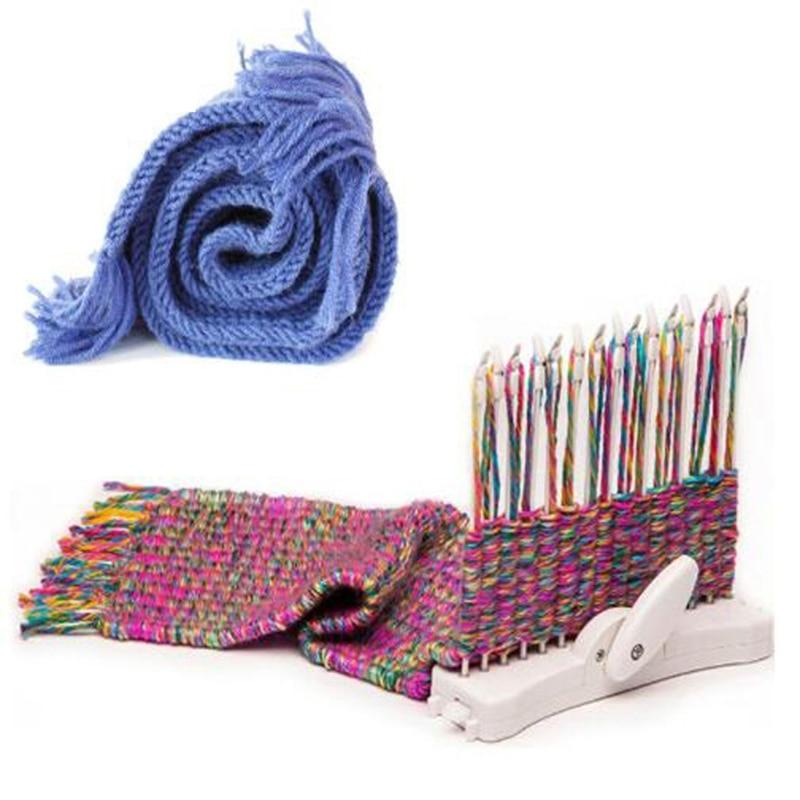 C5AF Scarf Knitting Machine Manual Scarves Weaving Loom Needles DIY Craft Wool Yarn Woven Knit Sewing Tool craft шапка craft logo knit