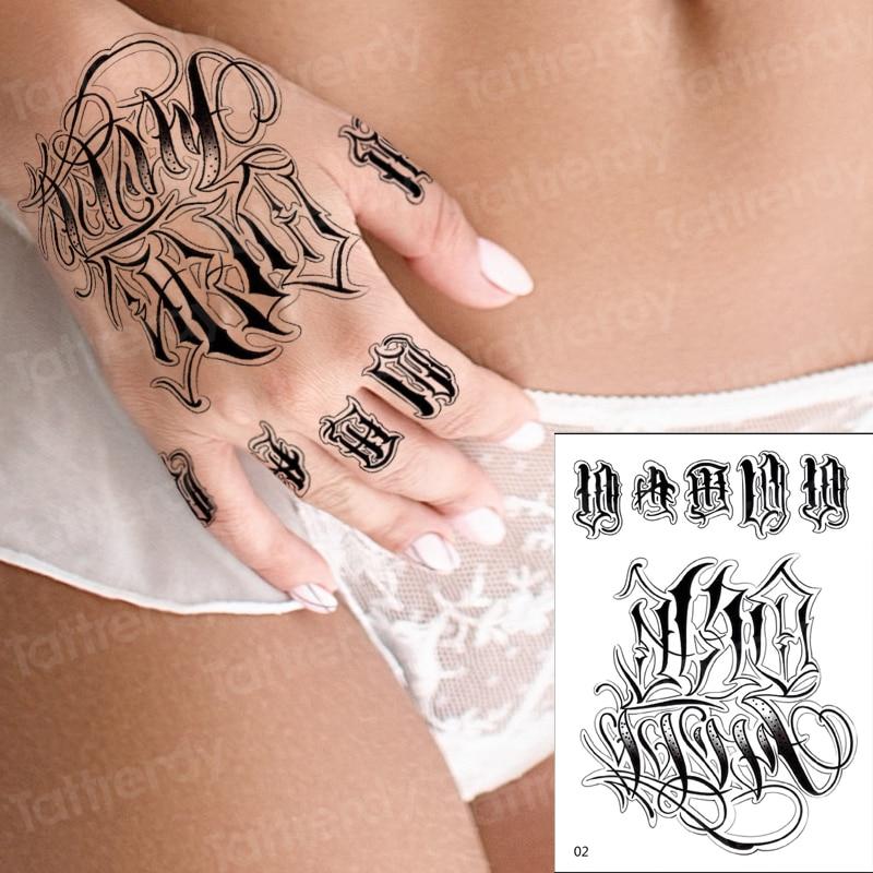 hand tattoo rose henna stickers temporary tattoo sticker roses hand tattoo stickers flower waterproof fake tatoo finger sheet