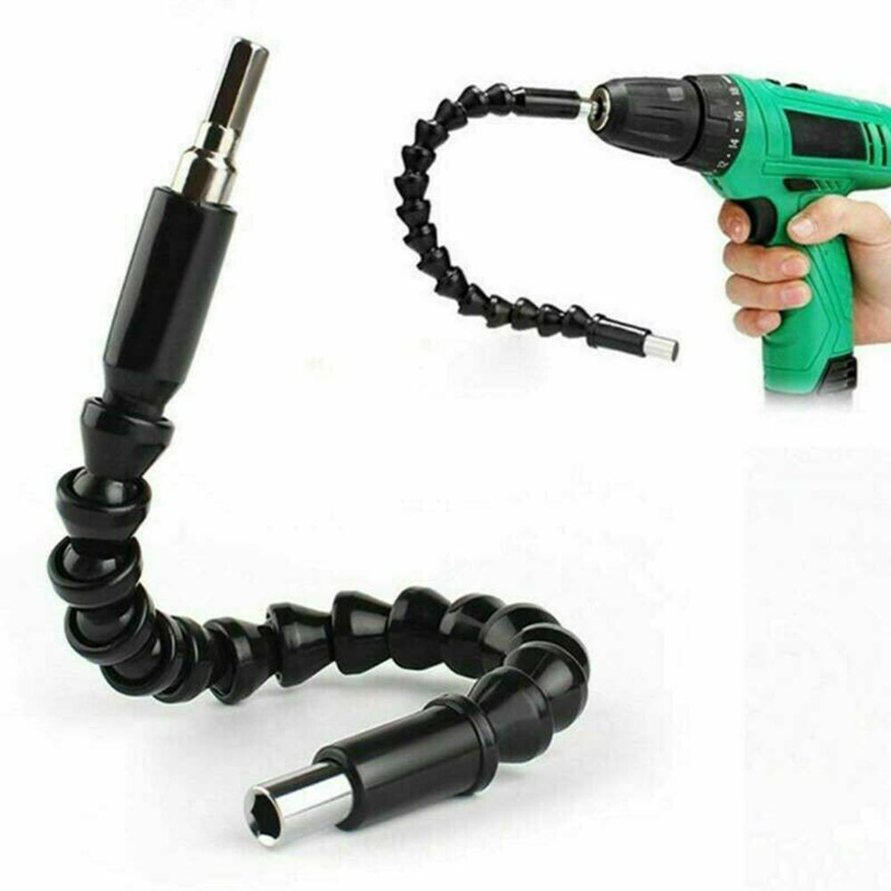2x right 105 angle drill flexible shaft bit kit extension screwdriver holder hex screwdriver socket holder adapter adjustable 2X Right 105 Angle Drill Flexible Shaft Bit Kit Extension Screwdriver Bit Holder 30FP13