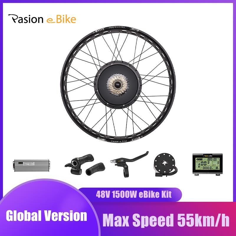 PASION E-مجموعة محركات الدراجات الكهربائية 48 فولت ، 1500 واط ، محرك بدون فرش 190 مللي متر ، عجلة دراجة عريضة