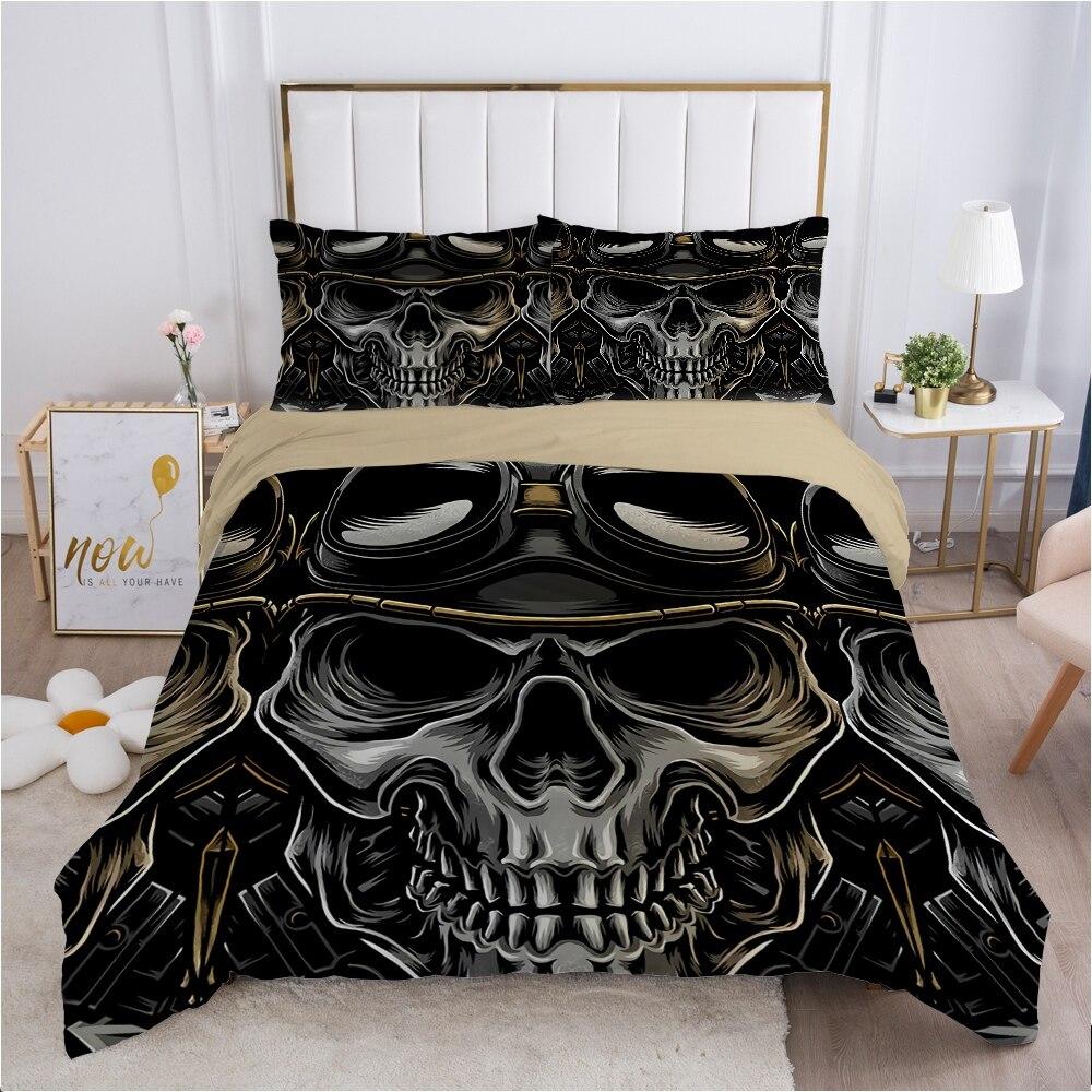الجمجمة ديدبول حاف مجموعة غطاء 240x220 200x200 طقم سرير التوأم الملكة الملك مزدوجة بياضات سرير غطاء لحاف ملاءات نظارات