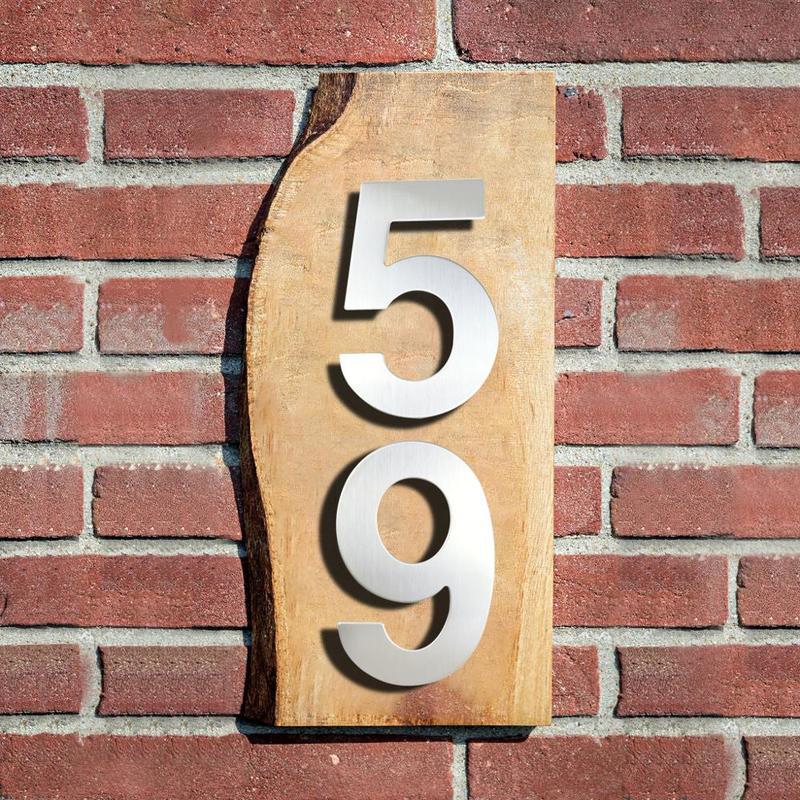 Huisnummer-números de puerta para exteriores, 15cm, plateados, 6 pulgadas, placa de dirección...