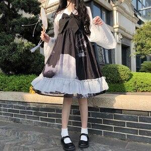 2020 Summer New Japanese Slim Temperament Sweet Doll Collar Long Sleeve fairy dress tea party lolita dress sweet lolita doll