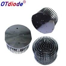 Yuvarlak D133mm önceden delinmiş led pin fin soğutucu için fit Cob cxb3590 Bridgelux V29 50-60w ısı emici diy kapalı