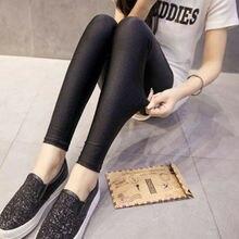 Leggings ajustados de cintura alta para mujer, pantalones largos negros, Leggings elásticos casuales, pantalones tipo lápiz 3XL