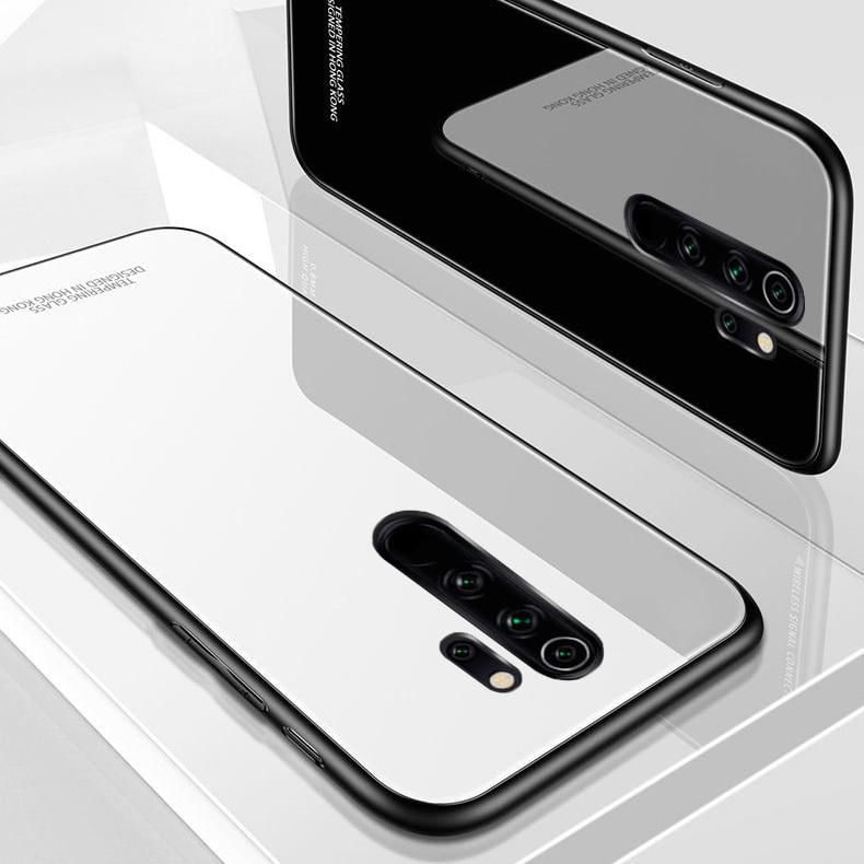 For Xiaomi Redmi Note 8 Pro Case Luxury Hard Tempered Glass Protective Back Cover Case for xiaomi redmi note 8 note8 8pro 9S
