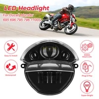 motorcycle headlight for ducati monster 695 696 front replace headlamp for ducati monster 695 696 795 796 1100 1100s m100