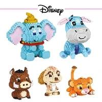 disney mickey mouse minne dumbo simba goofy dog eeyore timon pumbaa diamond small particle building blocks model toys kid gift