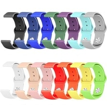 Colorful Soft Silicone Sport Band for iWatch Series Rubber Creative DIY Breathable Replacement Sport