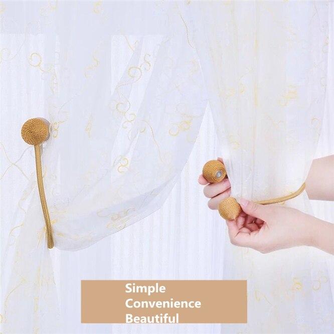 1 pc de bola magnética cortina corbata sencilla cuerda espalda retenciones Clips de hebilla de barras accesorios gancho titular de la Decoración de casa