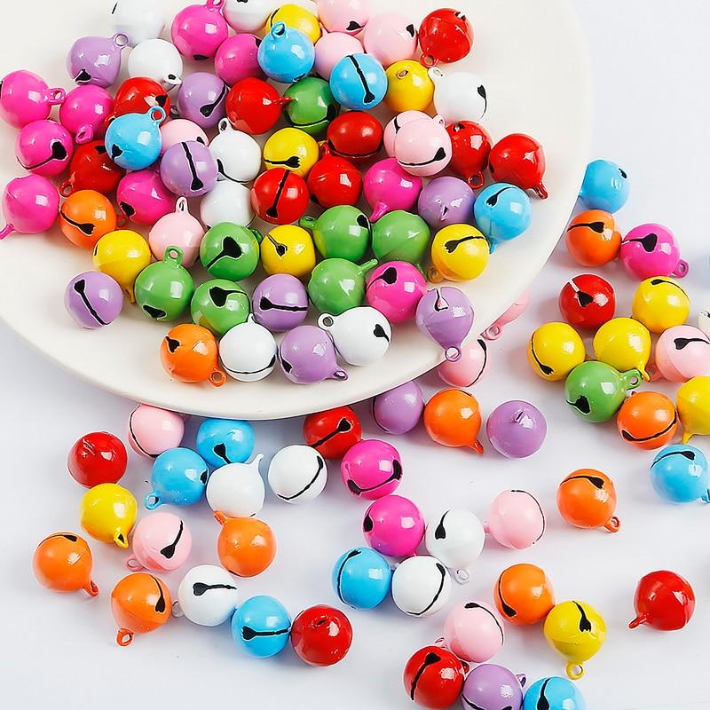 10 Teile/los Schöne Eisen Lose metall Perlen Jingle Bells Weihnachten Dekoration Anhänger DIY material Handwerk Weihnachten Glocken