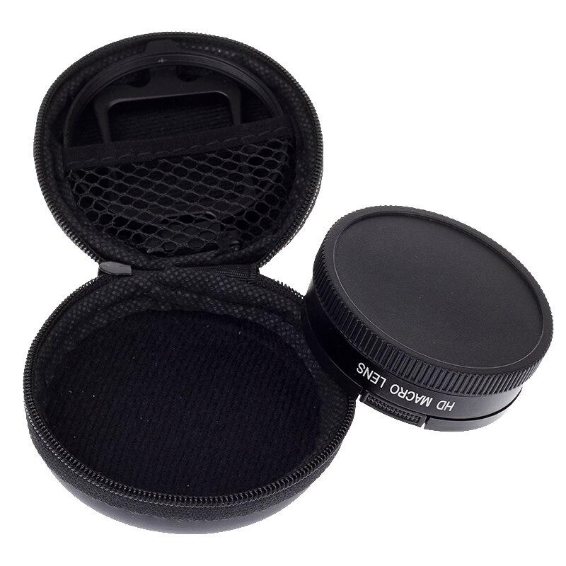 Lente Macro de aumento de 58mm 16x con adaptador de lente para cámara GoPro Hero 3 +, Hero4 xiao mi